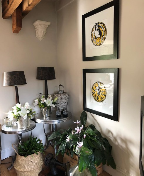 prints by Artist Michael Statham in May 2019 country homes and interiors magazine