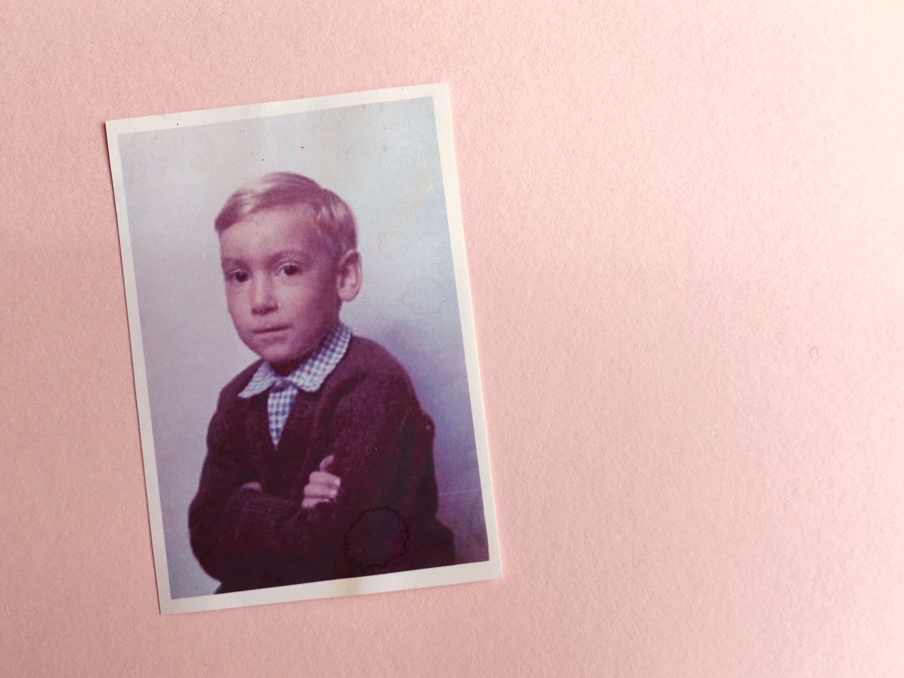 a photo of artist Michael Statham as a young boy