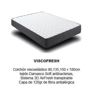 colchon viscoelastico viscofresh