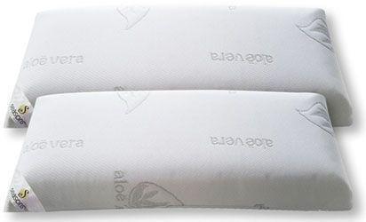 Pack de 2 almohadas viscoelásticas de 70 cm, tejido Aloe Vera [Análisis detallado]