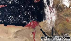 "Nilo con sangre"" fotografiado por satélite recuerda plagas"