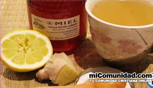 Cebolla, Limón, Miel y Jengibre para la Tos con Flemas