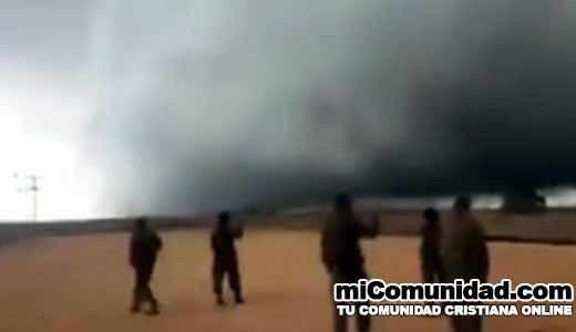 Viral video de misteriosa nube que apareció en frontera de Israel