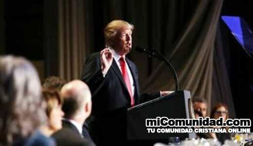 Donald Trump planea derribar barrera entre la Iglesia y Estado