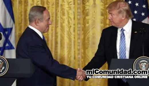 """Trump promete """"gran acuerdo de paz"""" entre Israel y Palestina"""