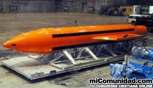 Estados Unidos lanza por primera vez su bomba más potente no nuclear en Afganistán