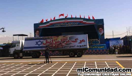 """Irán amenaza con Destruir a la """"Nación de Israel"""" durante un Desfile Militar"""