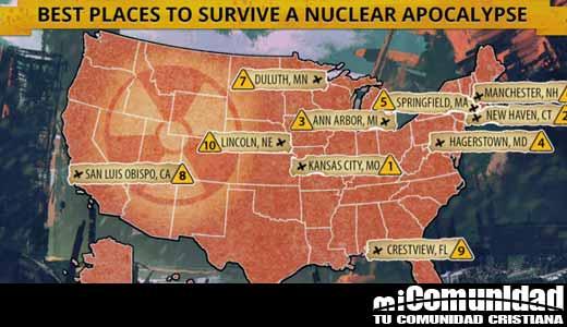 Científicos descubren las 10 ciudades donde la población podrá sobrevivir al Apocalipsis