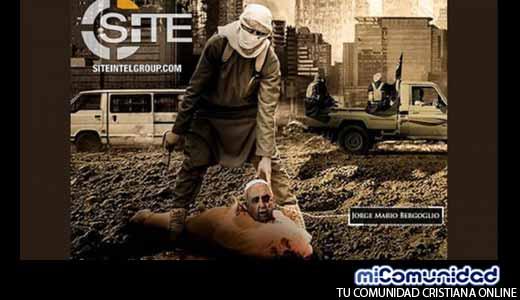 Estado islámico publica imágenes que muestran al Papa Francisco decapitado