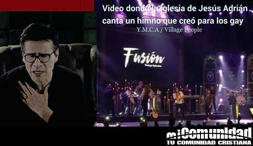 Iglesia de Jesús Adrián Romero canta canción pro Gay como alabanza