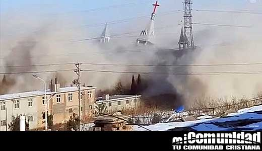 Video: Cristianos en China temen persecución se vuelva peor después de demolición de iglesia evangélica