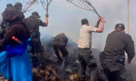 Incendio en Otavalo afecta más de 120 has. de vegetación