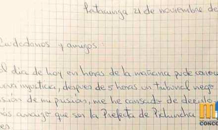"""Paola Pabón reclama """"ni siquiera se me permitió llegar a la audiencia"""""""