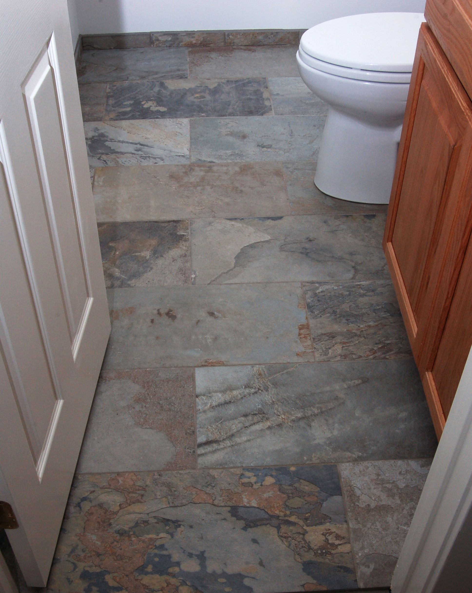 Floor tile debate: stone vs. porcelain