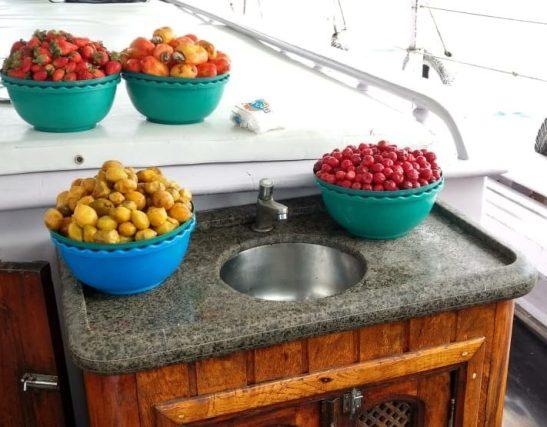 Frutas durante la navegación