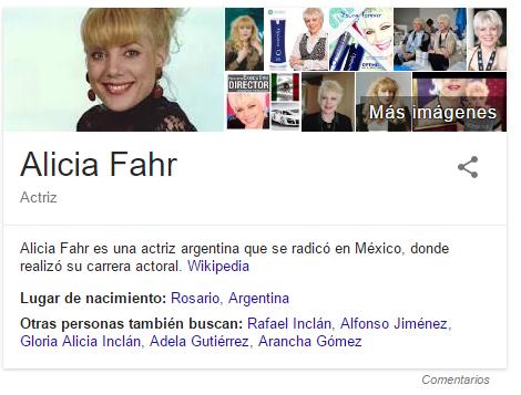 Biografia Alicia Fahr