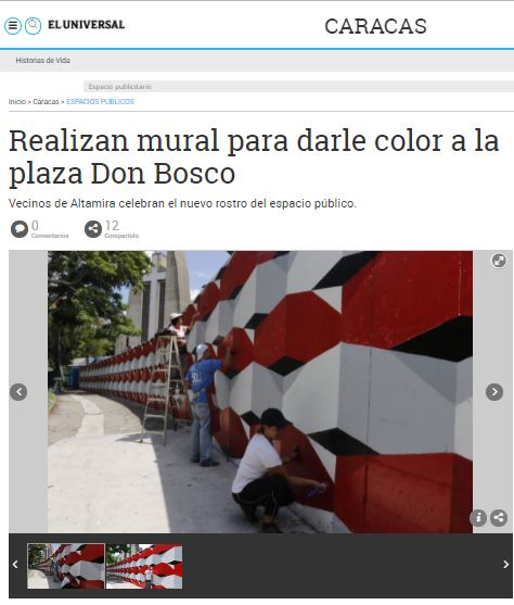Mural de Alberto J Sanchez en Caracas