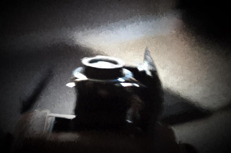 appareil photo ancien en peinture, avec photoshop