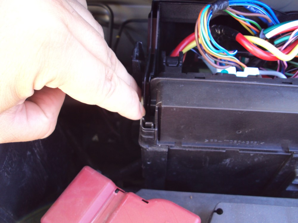 medium resolution of picture of the block removed there are fuses in the block and inside the box cabinet also