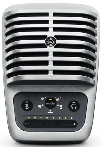 A solid condenser microphone that's travel-friendly
