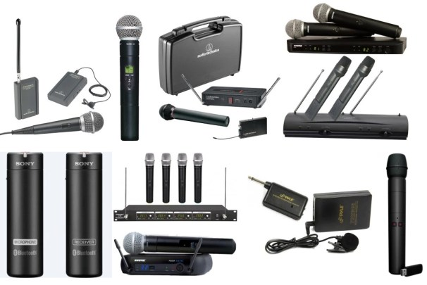 Wireless microphones come in many different shapes and sizes