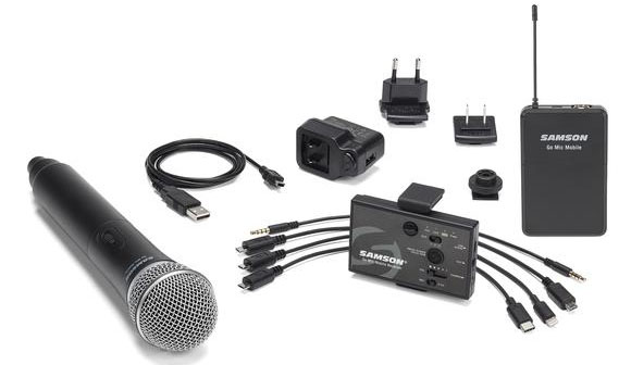 What's in the Samson Go Mic Mobile's box?