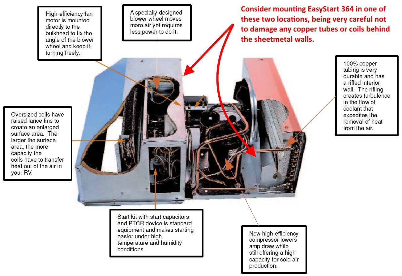 soft starter wiring diagram 1951 farmall m rv easystart diagrams resource page micro air coleman mach 1 364 mounting locations