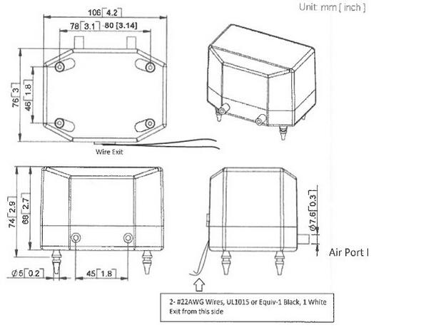 AC 12V Laboratory Vacuum Pump / Diaphragm Vacuum Pump For