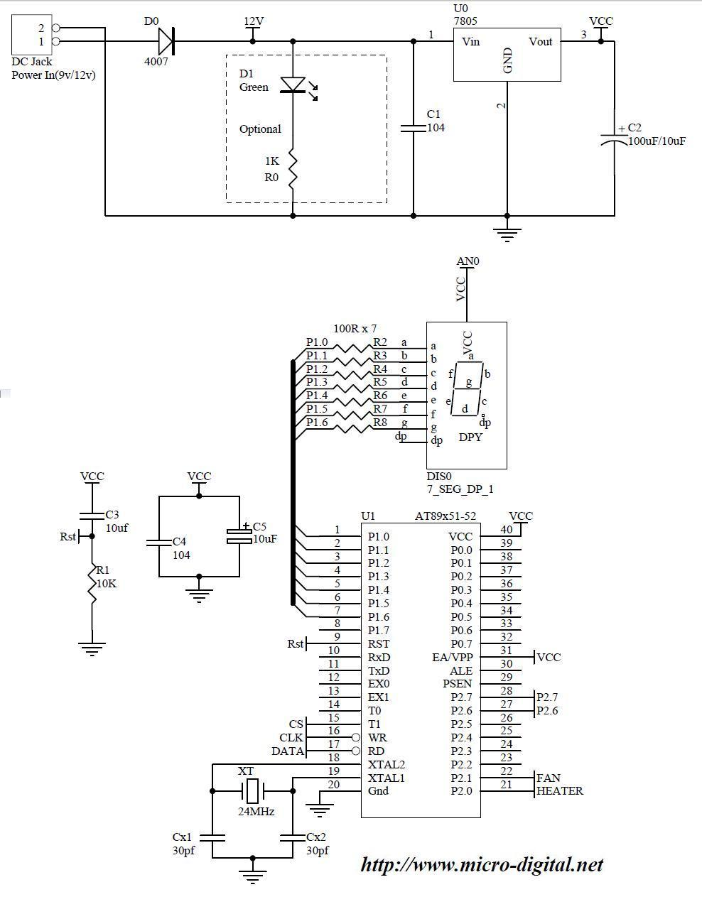Seven Segment Display Wiring Diagram For