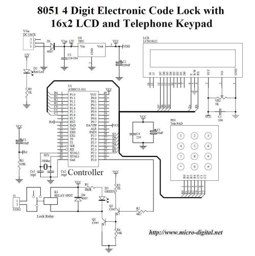 small resolution of 8051 4 digit electronic code lock with lcd
