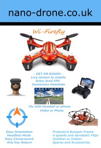 nano drone firefly drone features
