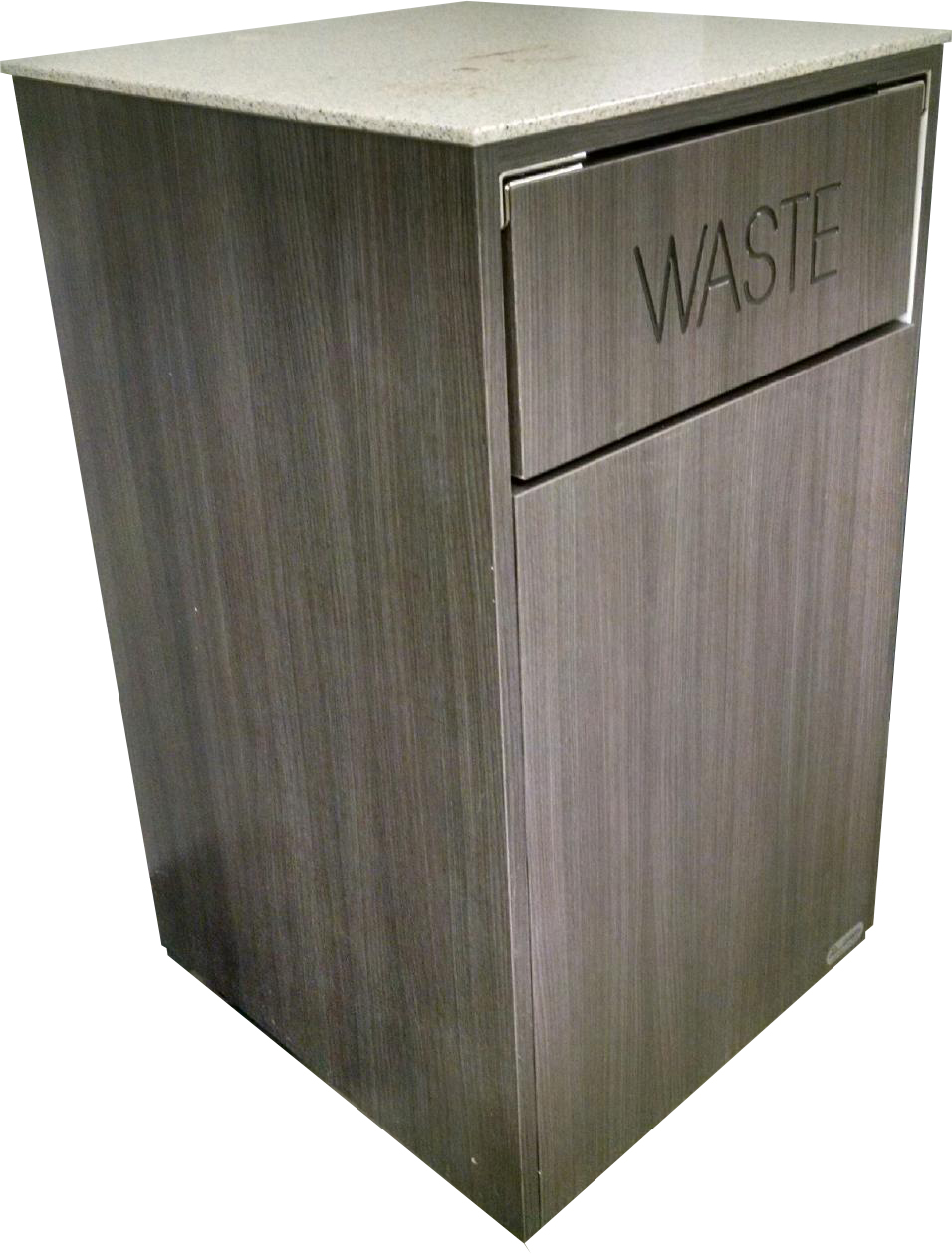 Swing Door Waste Receptacle Single  MicroMarket Fixtures