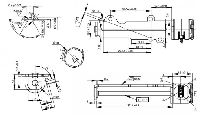 Two Phase 5V Slider Linear Stepper Motor OEM & ODM SERVICE