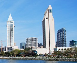 Cropped skyline image featuring CSUN venue, the Manchester Grand Hyatt San Diego