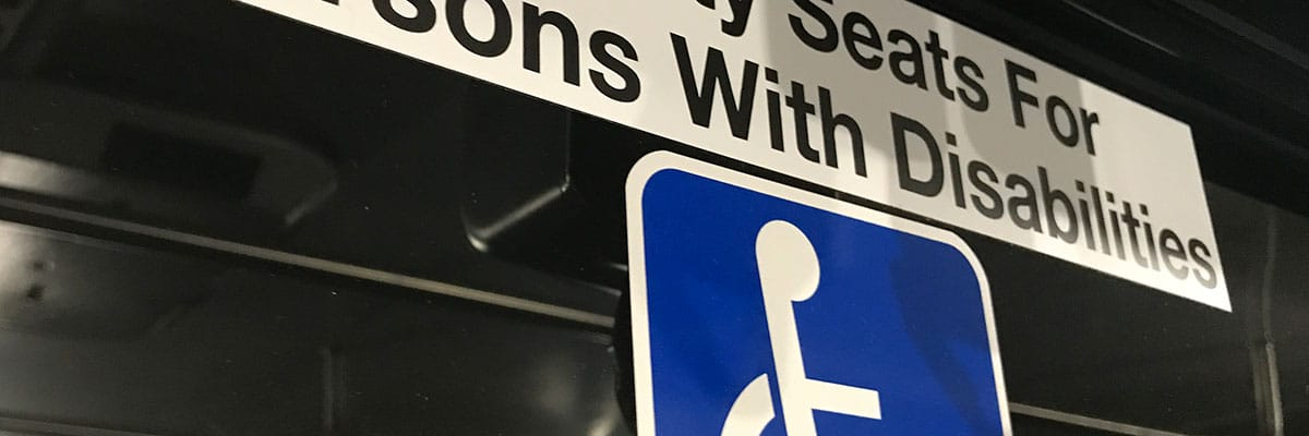 Airport Shuttle Sign: Priority Seating for Persons with Disabilities