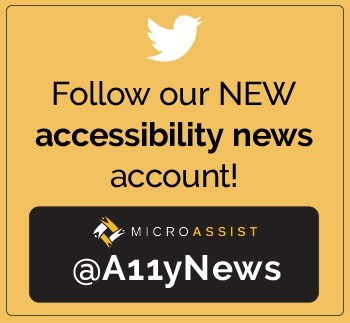 Follow our NEW accessibility news account