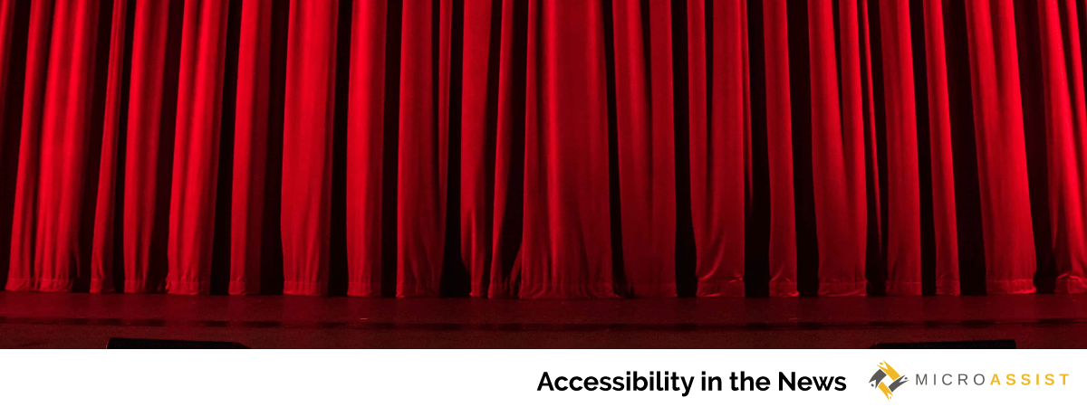 stage and red theater curtain | Microassist Accessibility in the News