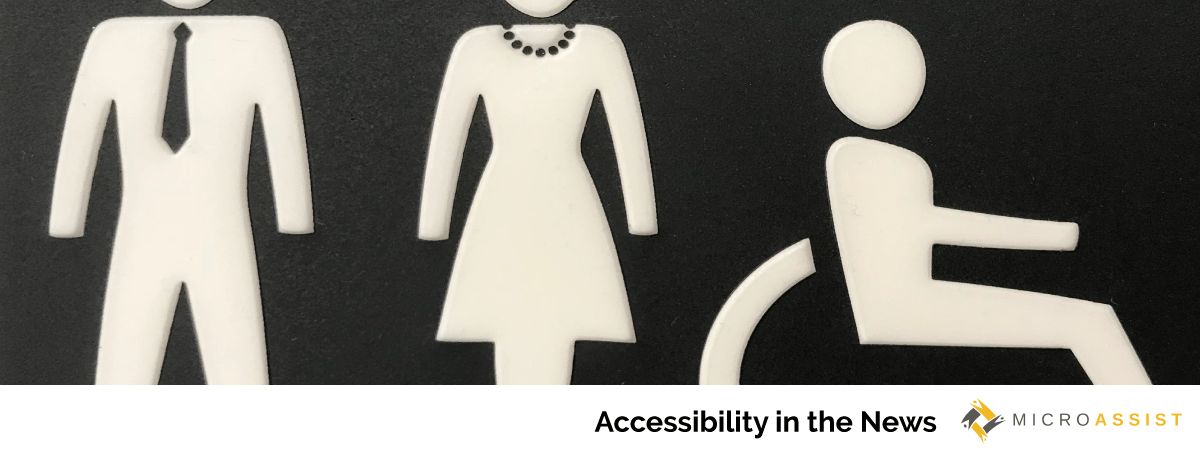 Male, female, access symbols | Microassist Accessibility in the News