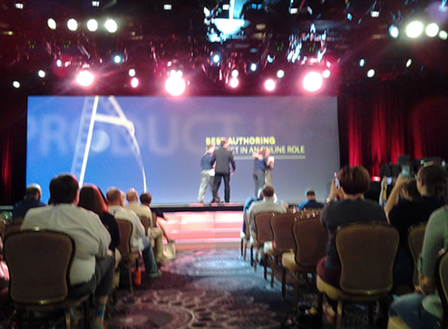 The stage at the Beverly Hilton
