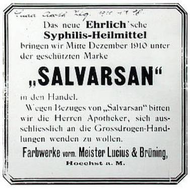 Manifesto riguardante Salvarsan