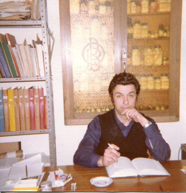 Fotografia dell'archivio storico ritraente il Prof. Taddei, fondatore della ceppoteca di Napoli