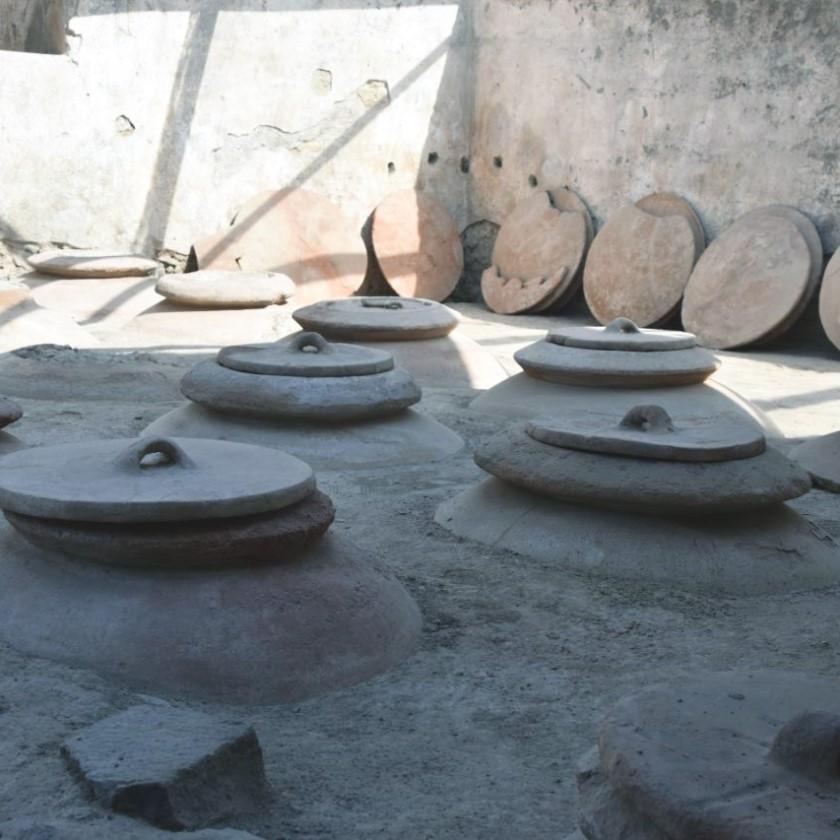 nel Parco archeologico di Pompei: tra i primi esempi di stoccaggio del vino