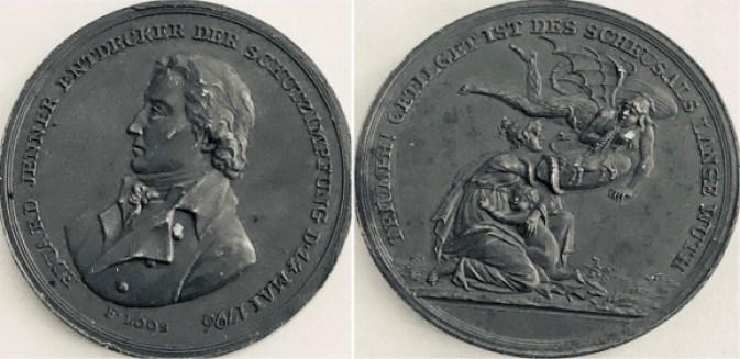 Medaglia dedicata ad Edward Jenner