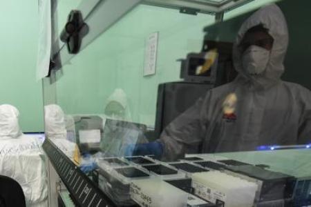 esperimenti in vitro sulle proprietà sanificanti del LED