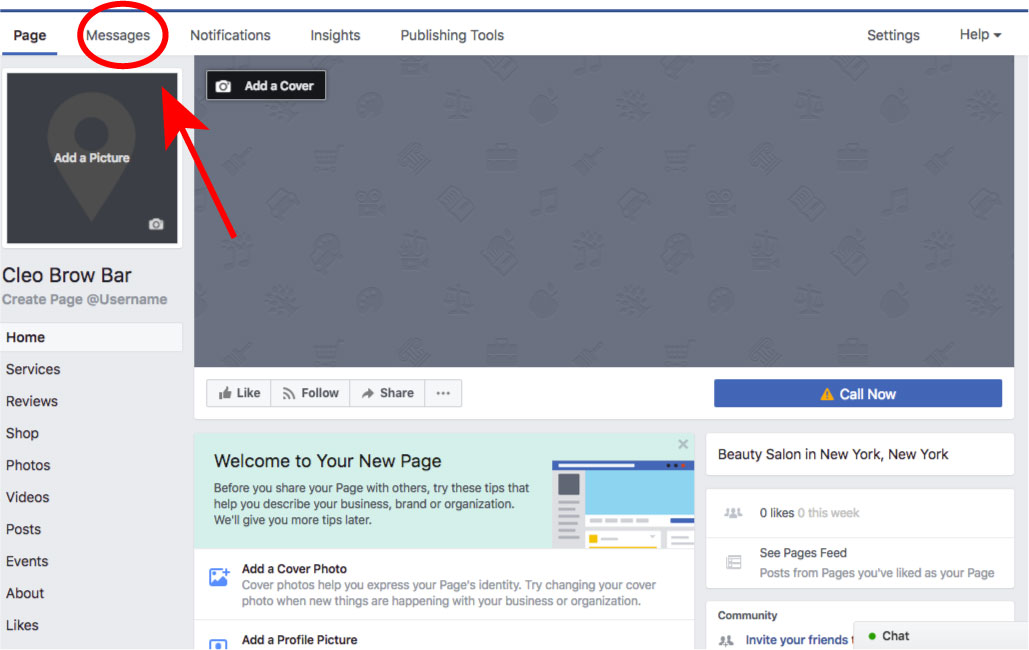 Microblading Hub how to set up a kickass facebook page setting up automatic messages