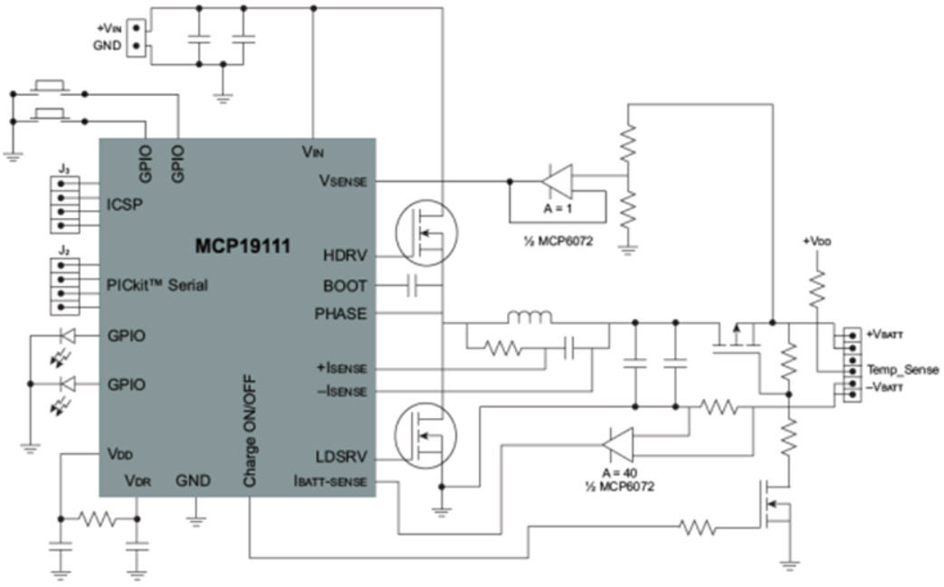 battery charge controller circuit diagram of tibia stress fracture management controllers | charging, li-ion microchip technology