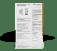 Relé de Alternância Dupla para 2 eletrobombas, centrais saneamento - RAL 202 SAM
