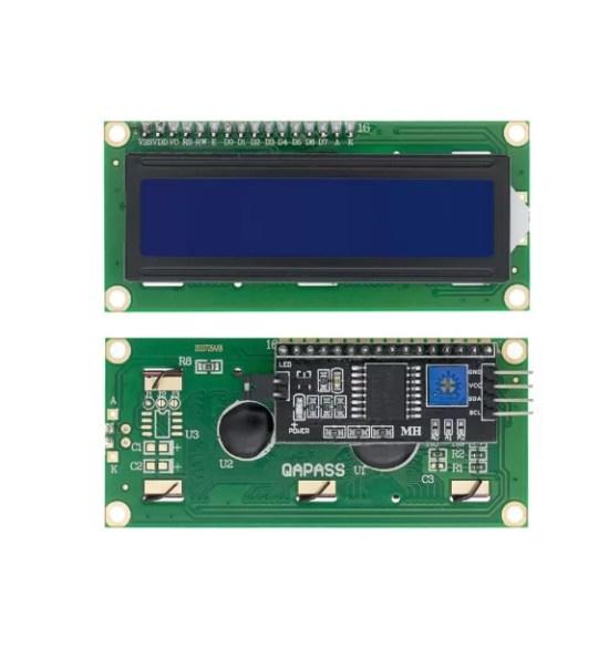 1602 LCD - I2C vezérléssel - KÉK