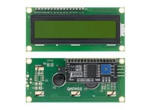 1602 LCD - I2C vezérléssel - ZÖLD