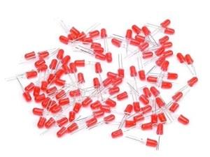 5mm diffúz Piros led